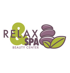 spa and relax beauty center logotype isolated icon vector image