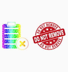 spectrum dot delete report page icon and vector image