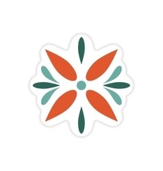 Stylish paper sticker on white background Arabic vector