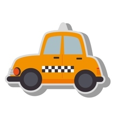 Taxi cab vehicle icon vector