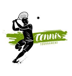 Tennis banner sport concept vector
