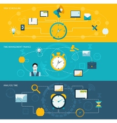 Time management banner set vector image