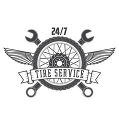 tire service vector image