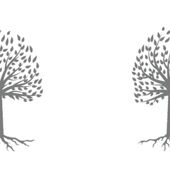 Tree Gray Silhouette vector