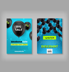 Two black friday discount coupons vector