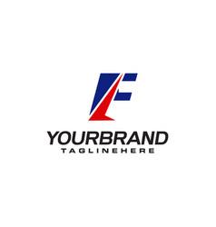 unique logo that forms letter f matches your vector image