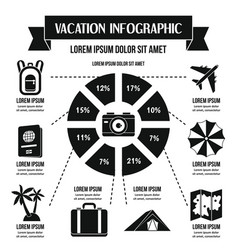Vacation infographic concept simple style vector