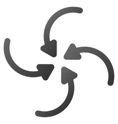 Vortex Arrows Gradient Icon vector