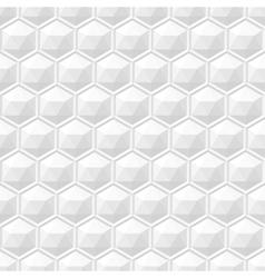 White 3d geometric texture seamless vector