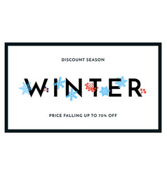 winter sale discount season banner or poster vector image