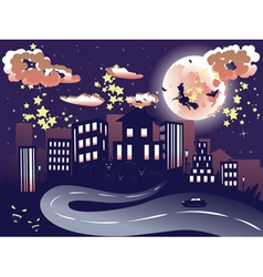 Witch is Coming to the City11 vector