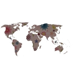 World map vintage vector image