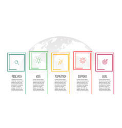 business infographics presentation with 5 options vector image