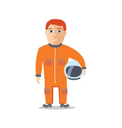 Cartoon Character Spaceman with Cpace Suit vector image