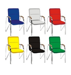 color metal chair vector image vector image