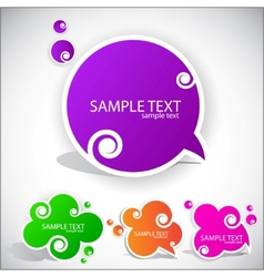 colorful paper bubble for speech vector image