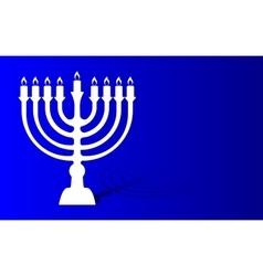 Festival of lights menorah background vector image