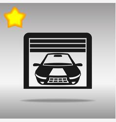 garage black icon button logo symbol vector image
