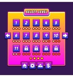 Space game menu level interface panels ui vector image