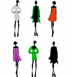 fashion girls designer silhouette sketch vector image vector image