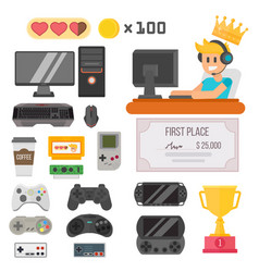gaming kiber sport set vector image
