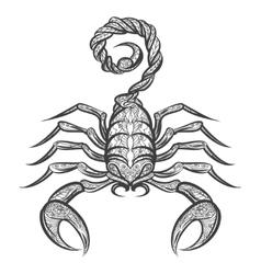 scorpion zentangle icon vector image