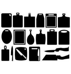 Set of kitchen cutting boards vector image vector image