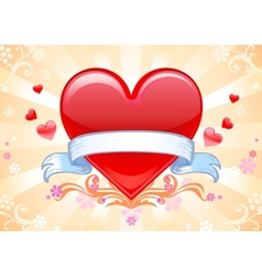Valentine background wiht heart vector image vector image