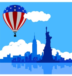 Air Balloon On New York City vector image vector image