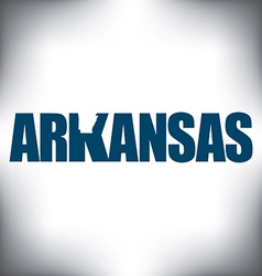 Arkansas state graphic vector image vector image