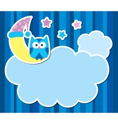 card with cartoon owl vector image vector image
