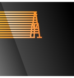 Oil rig icon vector image vector image