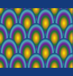 scale pattern in rainbow colors vector image vector image