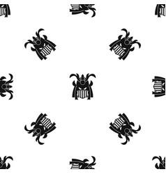 tribal helmet pattern seamless black vector image