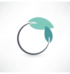 Eco symbols with leaf vector