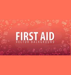 first aid medical background health care vector image vector image
