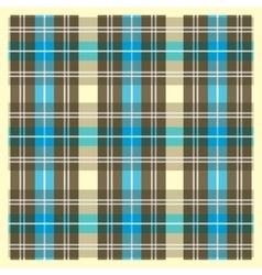 Light Yellow Brown and Blue Scottish Fabric vector image