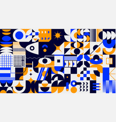abstract brutalism background geometric vector image