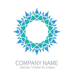 abstract symmetry circle logo harmony polygon vector image