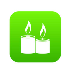 Aromatic candles icon digital green vector