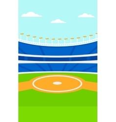 Background of baseball stadium vector