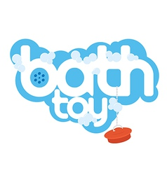 Bath toy package design element vector