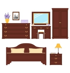 Bedroom furniture set vector image