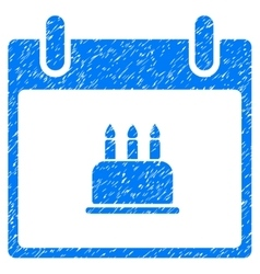 Birthday Cake Calendar Day Grainy Texture Icon vector