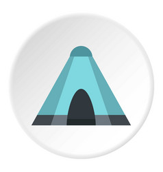 Blue tent icon circle vector