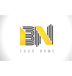 bn black lines letter logo creative line letters vector image