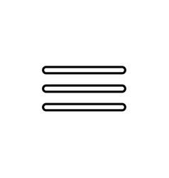 bold menu icon vector image