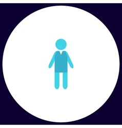 Boy computer symbol vector