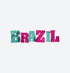 Brazil concept stamped word art vector