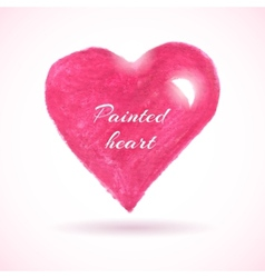 bright watercolor heart vector image